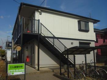 東金市 アパート 外壁塗装・屋根塗装・鉄骨階段・PS扉塗装 施工事例