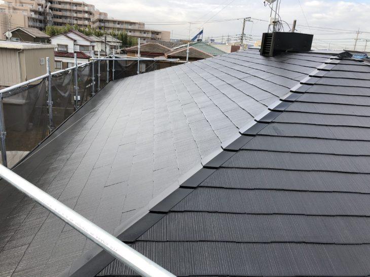 東金市 N様邸 スレート瓦 屋根塗装工事 天窓トップライト シール打ち工事