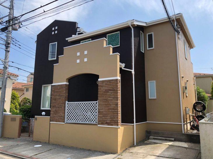 千葉市 K様邸 外壁塗装 屋根塗装 微弾性塗料 弾性塗料 施工事例