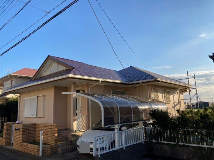 東金市 S様邸 屋根塗装 火災保険 大工工事 施工事例