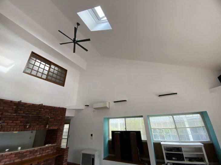 千葉県 いすみ市 G様邸 内部塗装 天井塗装 ガイナ塗料 施工事例