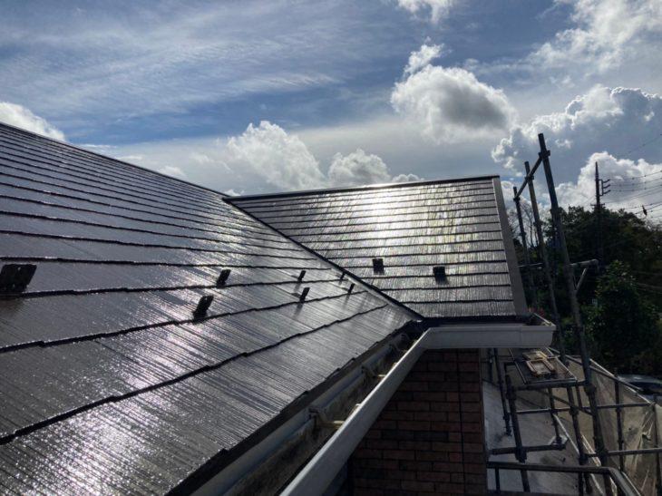 東金市 S様邸 台風被害 屋根塗装 屋根棟板金交換 屋根塗装工事 施工事例